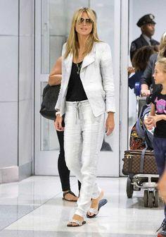 Heidi Klum parfaite à l'aéroport