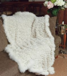Augustina Leathers - Paula Lishman Hand Knit Beaver Light Weight Brick Stitch Blanket, Call For Pricing - (888) 624-2403 (http://www.augustinaleathers.com/paula-lishman-hand-knit-beaver-light-weight-brick-stitch-blanket/)
