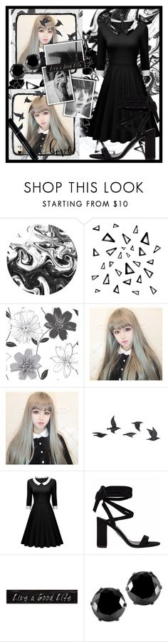 """""""I See the World in Black and White"""" by fancysid ❤ liked on Polyvore featuring Nika, Jayson Home, 3R Studios, West Coast Jewelry and Christian Dior"""
