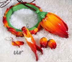 Imperial lily - polymer clay