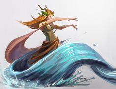 Aiconx Art Blog #nature #druid #water #aquatic #redhead