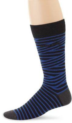 HUGO BOSS Men's Combed Thin Stripe Sock, Black, One Size HUGO BOSS. $14.00