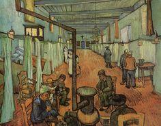 Tableaux sur toile, reproduction de Van Gogh, Ward In The Hospital In Arles, 74x92cm