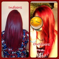 Just In Case Your Wondering What Loreal S Hicolor Red Looks Like The Sun