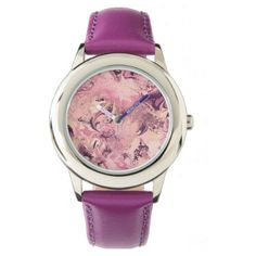 Purple and Black Marble Texture Girls Watch - Xmas ChristmasEve Christmas Eve Christmas merry xmas family kids gifts holidays Santa