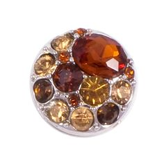 Amber Crystal Popper for Snap Jewelry