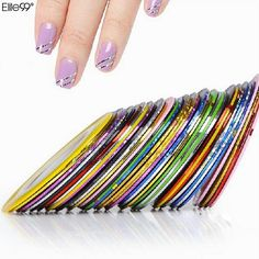 Elite99 New 10Pcs Mixed Colors Nail Rolls Striping Tape Line DIY Nail Art Tips Decoration Sticker Nails Care ND021*10