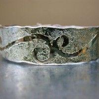 xfs_500x400_s80_zilveren armband met gouden patroon handgemaakt gehamerd. (2)