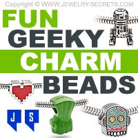 ►► FUN GEEKY CHARM BEADS ►► Jewelry Secrets