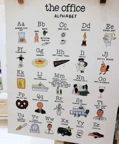 The Office Alphabet The Office Show, Office Tv, Pam The Office, Small Office, Office Ideas, Office Themed Party, Office Parties, The Office Birthday Meme, Office Jokes