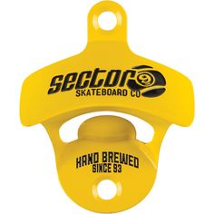 Sector 9 Cap Happy Wall Mount Yellow Bottle Opener- now at Warehouse Skateboards! #newarrivals #wskate