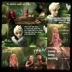 The Adventures of the Big Four: Page 35  by 1JoyDreamer.deviantart.com on @deviantART Jack's taken the lead, but Flyn is working his way closer to Rapunzel.