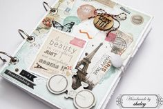Handmade notebook * Butterly, Maya Road * CRATE PAPER - The Pier - CHIPBOARD STICKERS * ILS - Divine this line, www.paperoamo.cz