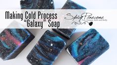 Making of Galaxy Cold Process Soap by Spicy Pinecone. This is a combination of a few different swirls, combined with some mica painting techniques. To addres...