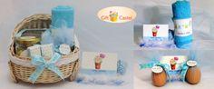 Rafael Baby Hampers. 1 Blue Towel,  1 Name Tag 2 Chocolate Bars 1 Candy Jar 2 Eggs
