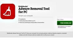 Adware Removal Tool es una solución gratuita para Windows, creada por Bitdefender, para eliminar adware, programas maliciosos, barras de herramientas, etc.
