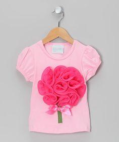 Another great find on #zulily! Pink Flower Bouquet Tee - Infant, Toddler & Girls #zulilyfinds
