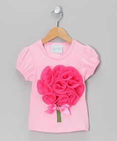 Look what I found on #zulily! Pink Flower Bouquet Tee - Infant, Toddler & Girls #zulilyfinds