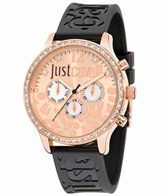 Just Cavalli Stainless Steel Case Black Rubber Mineral Men s   Women s Watch ed0a325fd1c