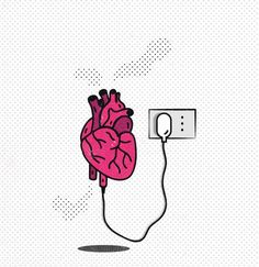Illustrations Questioning the Place of Technology in Our Lives: İlaria Grima . Tumblr Wallpaper, Iphone Wallpaper, Deep Wallpaper, Simple Doodles, Heart Art, Aesthetic Wallpapers, Cute Wallpapers, Art Sketches, Illustration Art
