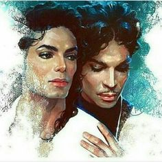 The Gloved One and The Purple One.Michael Jackson, King of Pop and Prince African American Art, African Art, Image Couple, Images D'art, Arte Black, Black Art Pictures, Black Artwork, Afro Art, My Black Is Beautiful