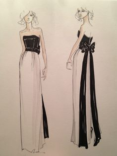 Original designer #sketches from Kate Young's collection for Target #KateYoungTarget