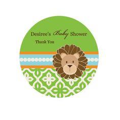 Jungle Safari Personalized Round Labels