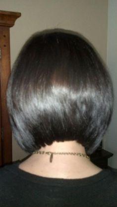 a short bob haircut ~!