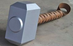 Step-by-step description of building a replica of Thor's comic book hammer.