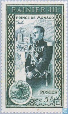 Stamps - Monaco - Rainier II 1950