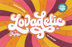 "Check out this @Behance project: ""Lovadelic Groovy Typeface"" https://www.behance.net/gallery/55981689/Lovadelic-Groovy-Typeface"