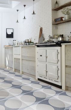 'Double Ellipse' Light Grey - Terrazzo (sample) – Lindsey Lang Design Ltd Terrazzo Tile, Cement Tiles, Encaustic Tile, Wall And Floor Tiles, Custom Rugs, Wall Patterns, Tile Design, Bathroom Wall, Double Vanity