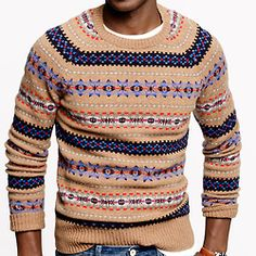 J. Crew has Fair Isle sweaters!! Probably they cost megabuxx. But ...