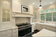 All White with Dark Wood Floors