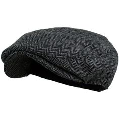 Men's Herringbone Tweed Wool Blend Snap Front Newsboy Hat (€5,66) ❤ liked on Polyvore featuring men's fashion, men's accessories, men's hats, mens newsboy hat, mens newsboy cap and mens hats