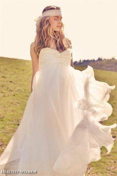 Лёгкое свадебное платье в греческом стиле