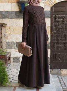 Lace Pleated Gown- A Pretty #Abaya or dress from shukrclothing.com