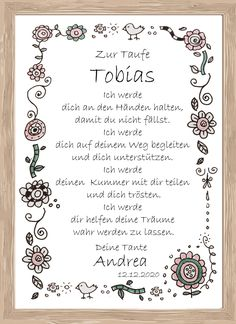 More - Taufe Godfather Letter Taufbrief 22 - a designer piece by House-Deko at . Other – Christening Godfather Letter Baptism Letter 22 – a unique product by House-Deko on DaWa Wedding Favors, Wedding Gifts, Diy Projects For Beginners, Fun Hobbies, Christening, Baby Gifts, Personalized Gifts, Diy And Crafts, Bullet Journal