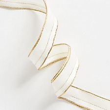 A classic white textured ribbon with a gold edge is a timeless choice for gifting. Pair with our wide array of wrap and gift boxes for a picture perfect presentation Office Holiday Party, Paper Source, Gold Box, Gold Ribbons, White Texture, Wired Ribbon, Beautiful Gift Boxes, Classic White, Fancy