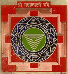 shri Mahakali yantra Chakras, Shiva, Kali Yantra, Tantra Art, Hindu Mantras, Sacred Symbols, Durga Goddess, Indian Gods, Gods And Goddesses