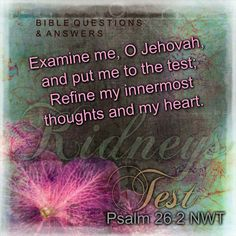 Mold me into what I need to be. Bible Questions And Answers, This Or That Questions, Psalm 26, My Test, What I Need, Jehovah, Quotes To Live By, Thoughts, Scriptures