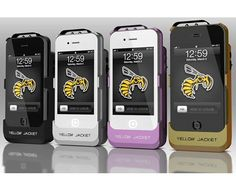 My Dad told me about these. That would give mugger a hell of a shock. iphone case/stun gun. Yellow jacket protects the phone and the carrier. it has more voltage than the tazers that cops carry.