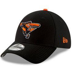 best value 07945 15884 Men s Baltimore Orioles New Era Black 2018 On-Field Prolight Batting  Practice Flex Hat