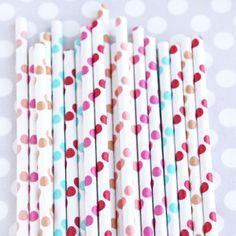 Carnival Mix Polka Dot Straws from Shop Sweet Lulu