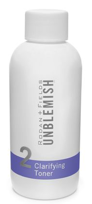 UNBLEMISH CLARIFYING TONER | Gently unclog pores to reveal a clean, calm complexion with UNBLEMISH Acne Clarifying Toner. This alcohol-free acne toner contains mild alpha-hydroxy acids for clearer, healthier-looking skin. (125 mL/4.2 fl. oz.)