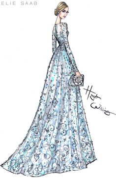 Lily James wearing ELIE SAAB Couture to the Cinderella Premiere - by Hayden Williams