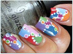 Patches and Dots Dot Nail Designs, Nail Polish Designs, Nails Design, Dot Nail Art, Polka Dot Nails, Polka Dots, Cute Nails, Pretty Nails, China Glaze Nail Polish