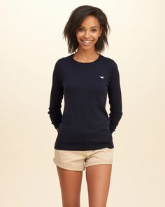 A simple crewneck sweater so comfortable, you'll want to wear it everywhere…