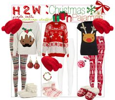 """H2W: Christmas PJ's"" by oh-my-tips ❤ liked on Polyvore"
