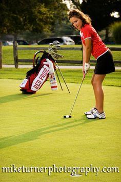golf senior pic | senior girl pose #senior